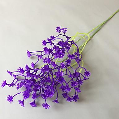 زهور اصطناعية 1 فرع كلاسيكي زهري ورادت ناعمة أزهار الأرض