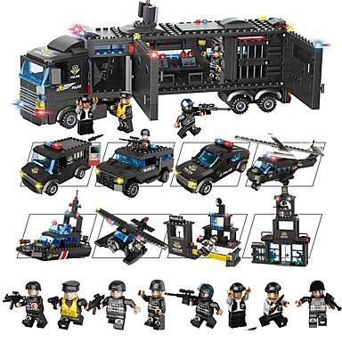 أحجار البناء مجموعة ألعاب البناء ألعاب تربوية 1095 pcs سيارات متوافق Legoing ضغط اللعب التفاعل بين الوالدين والطفل للصبيان للفتيات ألعاب هدية