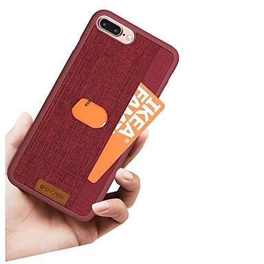 Недорогие Кейсы для iPhone 6-Кейс для Назначение Apple iPhone X / iPhone 8 Pluss / iPhone 8 Бумажник для карт Кейс на заднюю панель Однотонный / Полосы / волосы Твердый Кожа PU