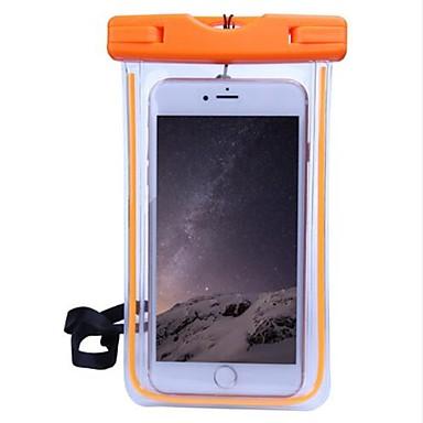 Недорогие Кейсы для iPhone 6-Кейс для Назначение Apple iPhone X / iPhone 8 / iPhone 7 Водонепроницаемый / Прозрачный Мешочек Однотонный Мягкий ПК