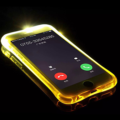 voordelige iPhone-hoesjes-hoesje Voor Apple iPhone X / iPhone 8 Plus / iPhone 8 LED-knipperlicht / Transparant Achterkant Effen Zacht TPU