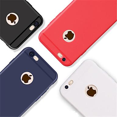Недорогие Кейсы для iPhone X-Кейс для Назначение Apple iPhone X / iPhone 8 Pluss / iPhone 8 Рельефный Кейс на заднюю панель Однотонный Мягкий ТПУ