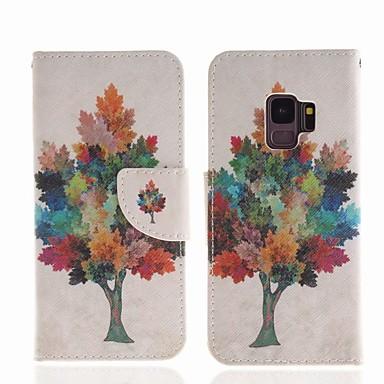 غطاء من أجل Samsung Galaxy S9 محفظة / حامل البطاقات / مع حامل غطاء كامل للجسم شجرة قاسي جلد PU