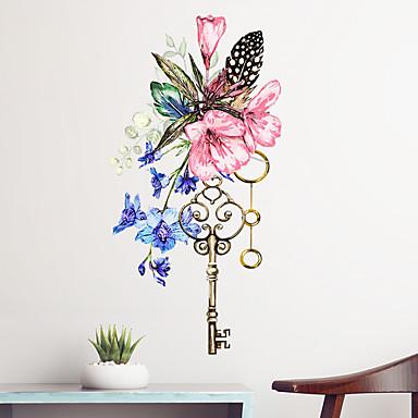 لواصق حائط مزخرفة - لواصق حائط الطائرة الأزهار / النباتية غرفة الجلوس / غرفة النوم / دورة المياه / قابل اعادة الوضع