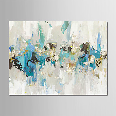 cheap Wall Art-Oil Painting Hand Painted - Abstract Modern Rolled Canvas