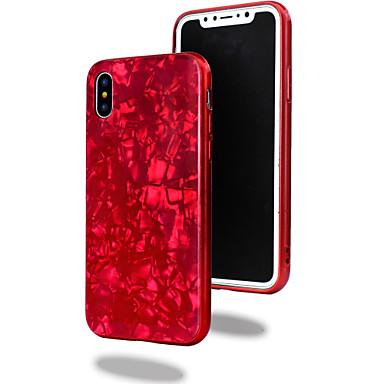 Недорогие Кейсы для iPhone 6-Кейс для Назначение Apple iPhone X / iPhone 8 Pluss / iPhone 8 Покрытие / Зеркальная поверхность Кейс на заднюю панель Геометрический рисунок / Мрамор / Градиент цвета Твердый Закаленное стекло