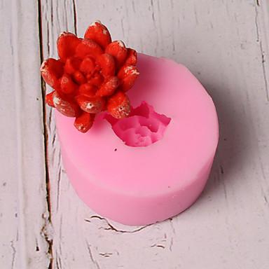 1PC سيليكون عطلة 3Dكرتون خلاق كعكة الشوكولاتي لأواني الطبخ دائري قوالب الكيك أدوات خبز