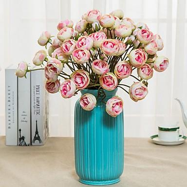 زهور اصطناعية 2 فرع كلاسيكي فردي زهري أسلوب بسيط أقحوان الزهور الخالدة أزهار الطاولة