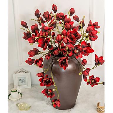 زهور اصطناعية 1 فرع كلاسيكي فردي أسلوب بسيط الحديث بتلات الزهور الخالدة أزهار الطاولة