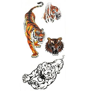 1 pcs ملصقات الوشم الوشم المؤقت سلسلة الحيوانات الفنون الجسم أيادي / ذراع / معصم