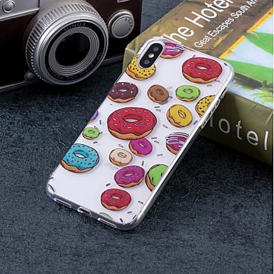 voordelige iPhone-hoesjes-hoesje Voor Apple iPhone X / iPhone 8 Plus / iPhone 8 IMD / Patroon Achterkant Voedsel Zacht TPU