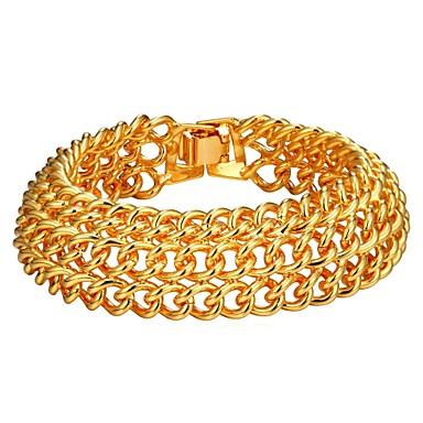 رجالي أسورة متعدد الطبقات موضة نحاس مجوهرات سوار ذهبي / فضي من أجل هدية مناسب للبس اليومي