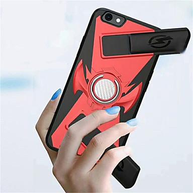 Недорогие Кейсы для iPhone 6 Plus-Кейс для Назначение Apple iPhone X / iPhone 8 Pluss / iPhone 8 Кольца-держатели / Игровой случай Кейс на заднюю панель Однотонный Твердый ПК