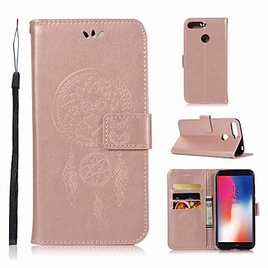 غطاء من أجل Huawei Huawei Y6 (2018) محفظة / حامل البطاقات / مع حامل غطاء كامل للجسم بوم قاسي جلد PU