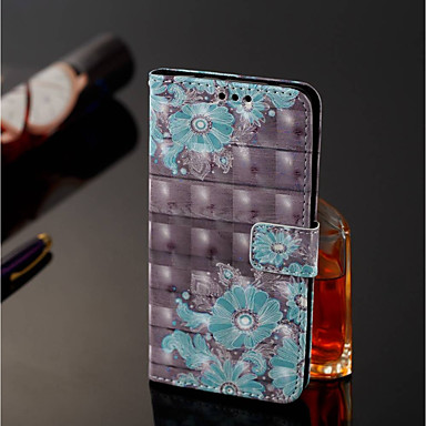 غطاء من أجل Xiaomi Redmi Note 5 Pro / Xiaomi Mi Mix 2S محفظة / حامل البطاقات / مع حامل غطاء كامل للجسم زهور قاسي جلد PU إلى Xiaomi Redmi Note 5 Pro / Xiaomi Mi Mix 2S