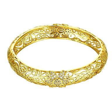 نسائي أساور أسورة وردة سيدات موضة ايطالي كل يوم مطلية بالذهب مجوهرات سوار ذهبي / ذهبي روزي من أجل هدية مناسب للبس اليومي