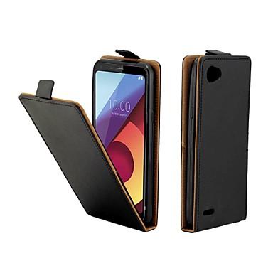 Недорогие Чехлы и кейсы для LG-чехол для LG LG Q7 / LG Q6 кожа с слотом для карт вверх и вниз для LG V30 / LG V30 K10 2017