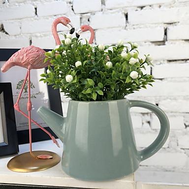 زهور اصطناعية 1 فرع كلاسيكي زهري عتيق نباتات أزهار الطاولة