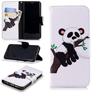 غطاء من أجل Samsung Galaxy S9 محفظة / حامل البطاقات / مع حامل غطاء كامل للجسم باندا قاسي جلد PU