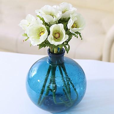 زهور اصطناعية 3 فرع كلاسيكي فردي زهري أسلوب بسيط الزنابق الزهور الخالدة أزهار الطاولة