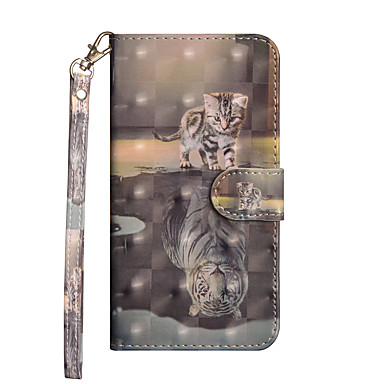 Недорогие Кейсы для iPhone 6 Plus-Кейс для Назначение Apple iPhone 11 / iPhone 11 Pro / iPhone 11 Pro Max Кошелек / Бумажник для карт / со стендом Чехол Животное Твердый Кожа PU
