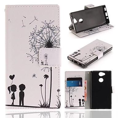 غطاء من أجل Sony Xperia XA2 محفظة / حامل البطاقات / مع حامل غطاء كامل للجسم الهندباء قاسي جلد PU