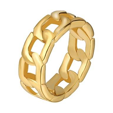 رجالي حلقة المفصل 1PC ذهبي أسود فضي الفولاذ المقاوم للصدأ Geometric Shape موضة هيب هوب هدية مناسب للبس اليومي مجوهرات