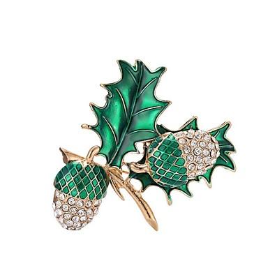 نسائي دبابيس أشكال النحت Leaf Shape سيدات أنيق كلاسيكي بروش مجوهرات أخضر من أجل مناسب للبس اليومي