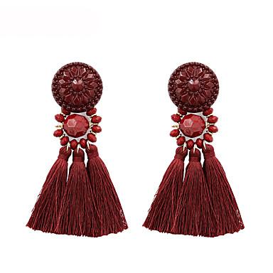 Žene Viseće naušnice Rese Naušnice Jewelry Crn / Dark Blue / Tamno crvena Za Dar Večer stranka 1 par