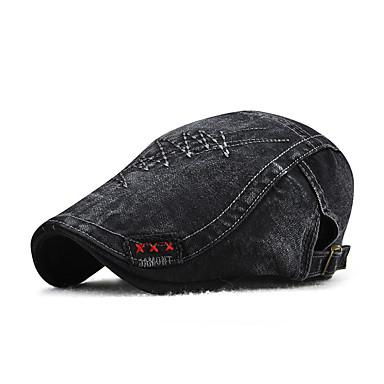 كل الفصول بني أسود البيج قبعة قلنسوة لون سادة للجنسين قطن بوليستر,عتيق أساسي