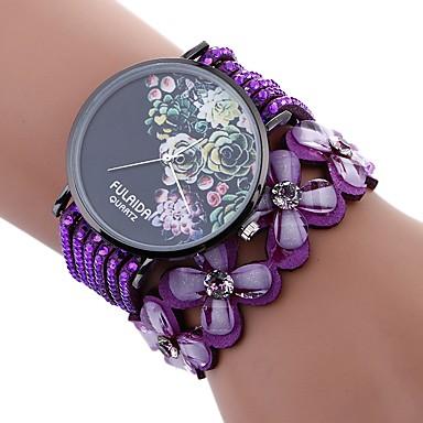 167ae0cee99c Xu™ Mujer Reloj Pulsera Reloj de Pulsera Cuarzo Cuero Sintético Acolchado  Negro   Blanco   Azul Creativo Reloj Casual Adorable Analógico damas Flor  Moda ...