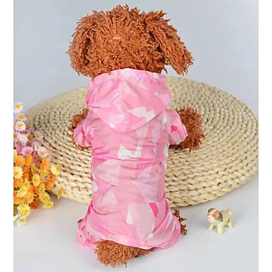 كلاب قطط حللا ملابس الكلاب طباعة ألوان متناوبة أزرق زهري رايون / بوليستر كوستيوم من أجل دالميشين شيه تزو بودل الصيف انثى قطعة واحدة وقت الفراغ