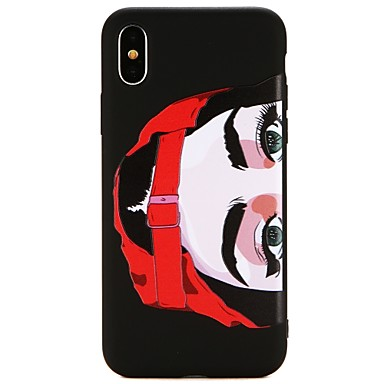 voordelige iPhone 6 hoesjes-hoesje Voor Apple iPhone X / iPhone 8 Plus / iPhone 8 Ultradun Achterkant Cartoon / Punk Zacht TPU