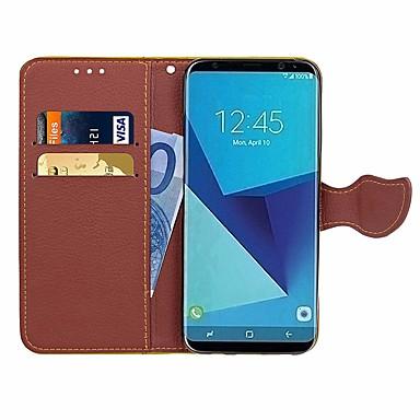 غطاء من أجل Samsung Galaxy J7 (2016) / J7 / J5 (2016) محفظة / حامل البطاقات / حجر كريم غطاء كامل للجسم لون سادة / زهور قاسي جلد PU