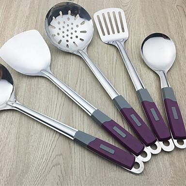 الفولاذ المقاوم للصدأ غرفة الطعام والمطبخ أدوات أدوات أدوات المطبخ 5pcs