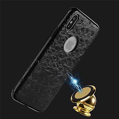 Недорогие Кейсы для iPhone X-Кейс для Назначение Apple iPhone X / iPhone 8 Pluss / iPhone 8 Рельефный Кейс на заднюю панель Однотонный Мягкий Кожа PU
