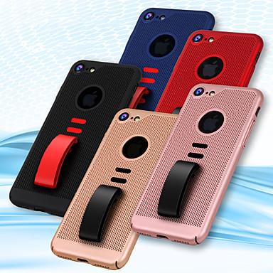 غطاء من أجل Apple iPhone X / iPhone 8 Plus / iPhone 8 حامل الخاتم غطاء خلفي لون سادة قاسي الكمبيوتر الشخصي