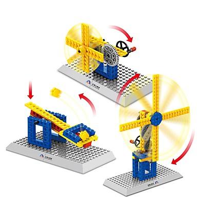 أحجار البناء مجموعة ألعاب البناء ألعاب تربوية 50 pcs خنزير طاحونة هوائية متوافق Legoing مدرسة ضغط اللعب التفاعل بين الوالدين والطفل للصبيان للفتيات ألعاب هدية