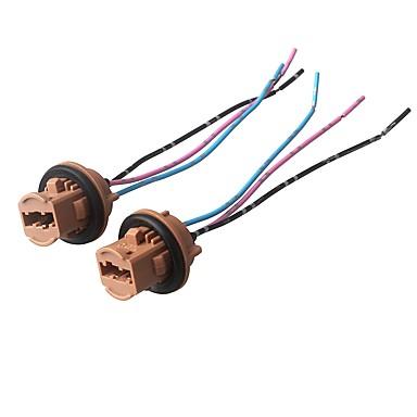 [€4 99] ziqiao 2 pcs h7 phare ampoule prise de courant en céramique lampe  base connecteur de voiture connecteur - couleur aléatoire