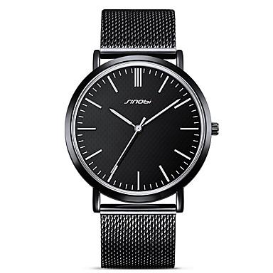 SINOBI رجالي ساعة المعصم ياباني كوارتز ياباني أسود 30 m مقاوم للماء مقاومة الصدمات مماثل كلاسيكي كاجوال - أسود سنتان عمر البطارية
