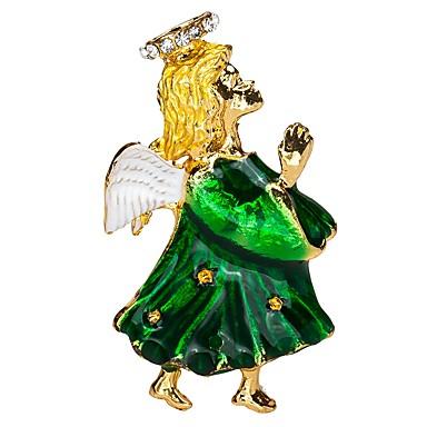 نسائي دبابيس أشكال النحت إيمان سيدات فني بسيط بروش مجوهرات أخضر من أجل مناسب للبس اليومي