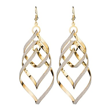 Women's Drop Earrings Long Ladies European Trendy Earrings Jewelry Gold / Black / Silver For Masquerade Holiday 1 Pair