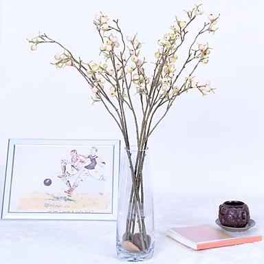 زهور اصطناعية 1 فرع كلاسيكي فردي أسلوب بسيط الحديث فاكهة شجرة عيد الميلاد الزهور الخالدة أزهار الطاولة