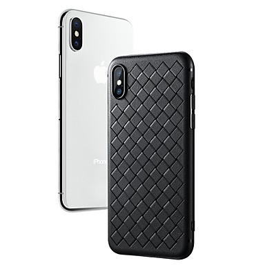 غطاء من أجل Apple iPhone X / iPhone 8 Plus / iPhone 8 نحيف جداً غطاء خلفي لون سادة ناعم TPU