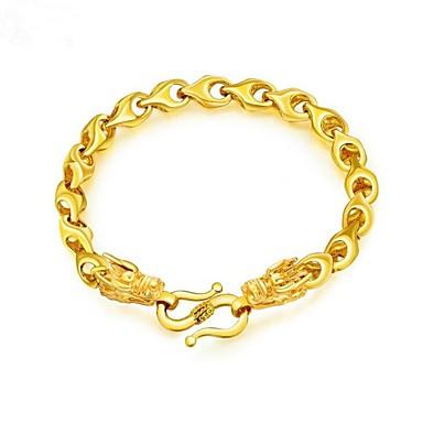 رجالي أسورة مطلية بالذهب تنين موضة سوار مجوهرات ذهبي من أجل هدية مناسب للبس اليومي
