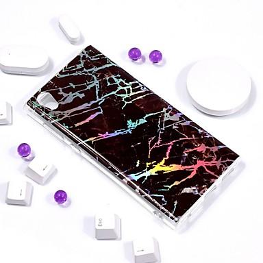 Недорогие Чехлы и кейсы для Sony-Кейс для Назначение Sony Xperia L2 / Sony Xperia L1 Покрытие / IMD / С узором Кейс на заднюю панель Мрамор Мягкий ТПУ