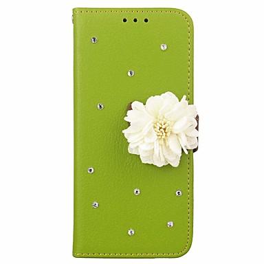 غطاء من أجل Samsung Galaxy S9 / S9 Plus / S8 Plus محفظة / حامل البطاقات / حجر كريم غطاء كامل للجسم لون سادة / زهور قاسي جلد PU