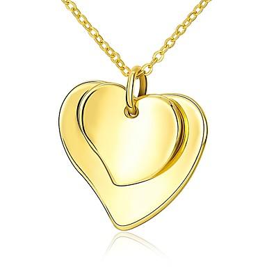 نسائي قلائد الحلي قلب سيدات موضة مطلية بالذهب ذهبي 45 cm قلادة مجوهرات 1PC من أجل هدية مناسب للبس اليومي