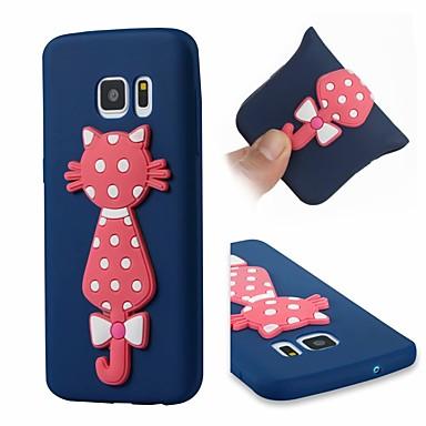 غطاء من أجل Samsung Galaxy S7 ضد الصدمات / نموذج غطاء خلفي قطة ناعم TPU
