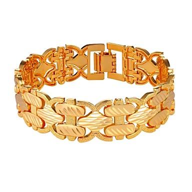 رجالي أساور السلسلة والوصلة حبل موضة نحاس مجوهرات سوار ذهبي / فضي من أجل هدية مناسب للبس اليومي